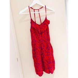 Dresses & Skirts - Red Animal Print Dress Size XS NEW